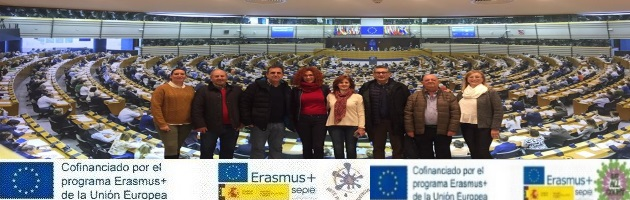 Visita de los Proyectos Erasmus + 'We All Count' y 'Arte por la Convivencia' al Parlamento Europeo en Bruselas